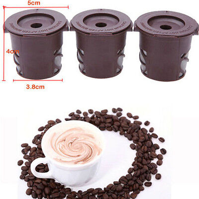 3x Refillable Clever Coffee Capsule Pods For N'est pas Stainless Steel Filters