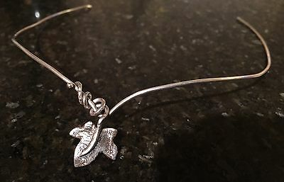 Handmade Silver Circlet With Ivy Leaf - Pagan Eleven Handfasting Wedding Tiara