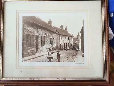 Silver Row Falkirk c1900 framed old photographic print