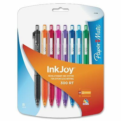 Paper Mate InkJoy 300 RT 8 pk Retractable Medium Point Ballpoint Pens 1781564