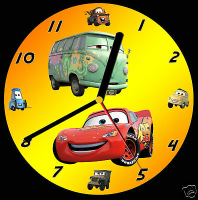 Cars Lightning McQueen CD Clock, can be personalised