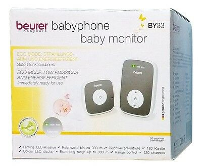 BEURER BY33 Babyphone 300 m Reichweite / ECO-Mode / LED Anzeige