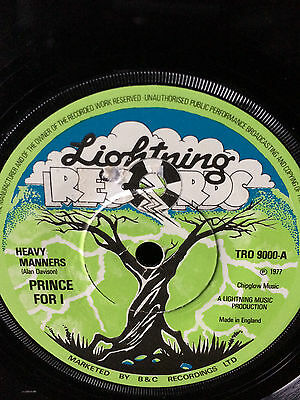 "Princefari ""heavy Manners"" On The Lightning Label 7""."