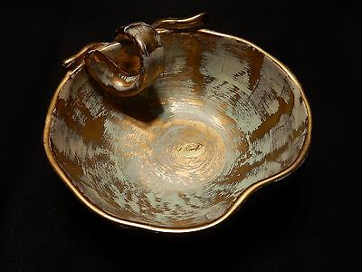 Stangl Pottery Oval Antique Gold Apple Bowl Mid Century Vintage