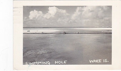 RP People in Swimming hole, Wake Island, Pacific, PU-1949, Life Guard station