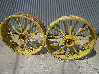 John Deere D rear steel wheels JD1219R