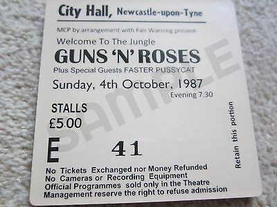 Guns N Roses Concert Coasters Ticket October 1987 High quality mdf