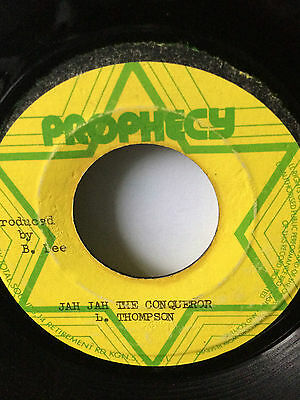 "Linval Thompson ""jah Jah The Conqueror"" On The Prophecy Label 7""."