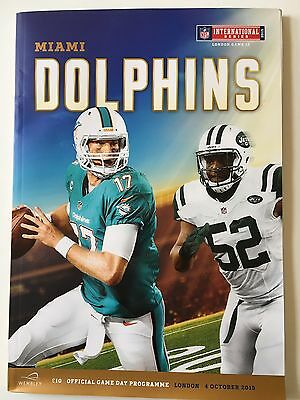 NFL New York Jets V Miami Dolphins London Game 12. 4/10/15 EXCLUSIVE MEDIA GUIDE