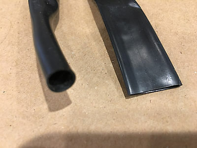 """1/2"""" BLACK 2:1 Heat Shrink Tubing sold as continuous feet in 4' sections"""