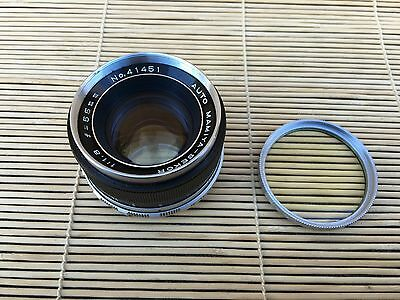 Auto Mamiya-Sekor  55Mm F1.8 Prime Lens M42 Screw Mount Near Mint Condition