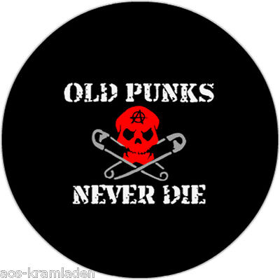 Button 25mm - Old Punks Never Die