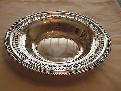 Vintage Wm Roger 835 Reticulated Silverplate Serving Bowl Tray