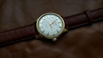 Vintage Gents 18Ct Solid Gold Longines Conquest Automatic Swiss Made Wrist Watch