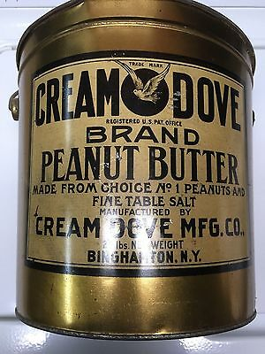 "HUGE"" Cream Dove"" Peanut Butter Tin-20 Pound-Cream Dove Mfg. Binghamton ,N.Y."