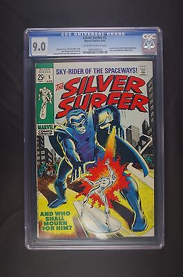 Silver Surfer 5 first series CGC 9.0 OW-WP, Fantastic Four & Stranger, 4/69