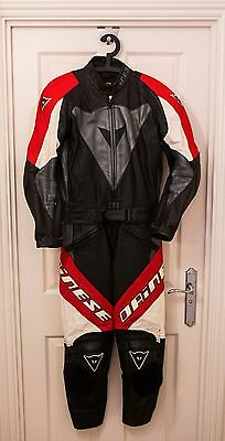 Dainese 2 Piece Leathers (Red White Black) - Classic / Small 46