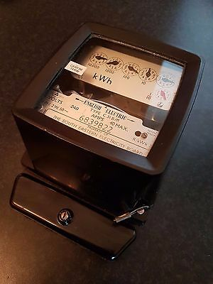 Vintage English Electric C31 B/M kWh Single Phase Electricity Meter 240v 40Amp