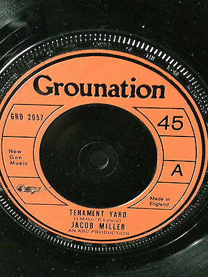 "Jacob Miller  ""tenement Yard"" On The Grounation Label 7"" Hear."