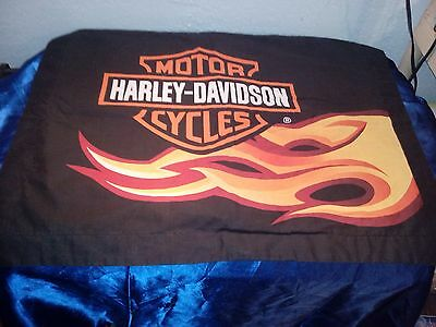 Harley Davidson Pillow Case Flames