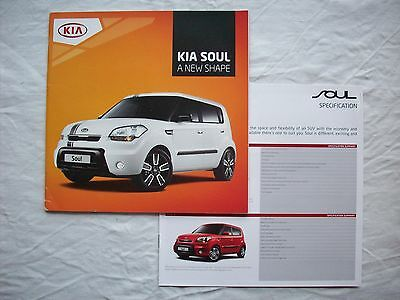 Kia Soul Range UK Brochure 2011 Soul 1 & 2 Tempest Shaker Echo Searcher Burner
