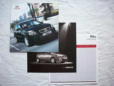 Kia Rio Range UK Brochure & Price List 2010 Rio 1 & 2 Graphite Domino 1.4 1.5