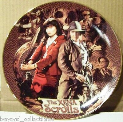 """Xena Limited Edition Collector China Plate - """"xena Scrolls"""" #79 Of 300"""