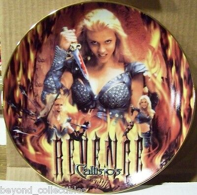 """Xena Limited Edition Collector China Plate - """"callisto's Revenge #79 Of 300"""