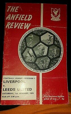 Liverpool v Leeds United season 1971-1972