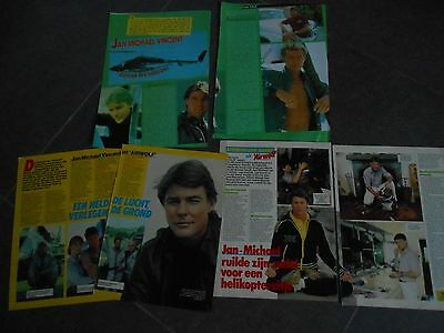 jean michael vincent, clippings rare !! supercopter