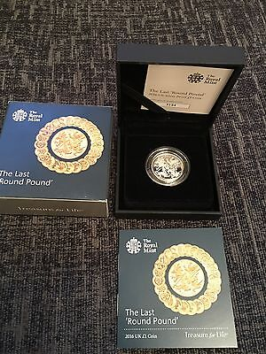 2016 The Last Round Pound £1 Coin SILVER PROOF