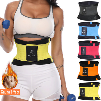 Sweat Waist Trimmer Belt Wrap Stomach Slimming Fat Burn Weight Loss Body New