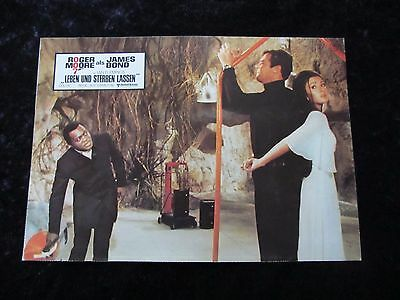 Live and Let Die lobby card # 2 -  Roger Moore, James Bond 007