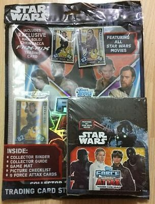 Topps Star Wars Force Attax Trade Cards Full Box X36 Packets & Start Pack rrp£41