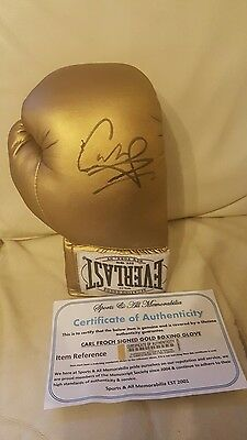 Signed Carl Froch Boxing Glove with COA