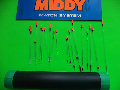 20 New Mixed Middy Loaded And Unloaded Fishing Floats In A Float Tube