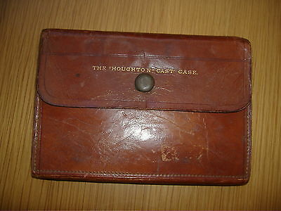 """Vintage Hardy The """"houghton"""" Leather Fly Cast Case/wallet."""