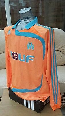 Olympique Marseille Adidas Away Player Issue Football Shirt Long Sleeves XL