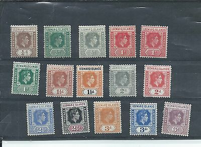 Leeward Islands stamps. George VI 1938 lot to 6d MH. See desc. (Y705)