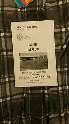 Cardiff v Liverpool rugby programme 1969