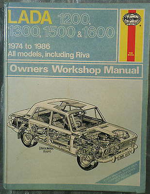 Haynes Workshop Manual Lada 1200 1300 1500 1600 from 1974 to 1986.