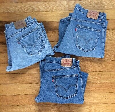 MENS LEVI  WORK JEANS 36 X 34 (LOT OF 3 Pair)