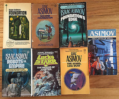 Isaac Asimov 8 paberback lot Prelude Second Foundation