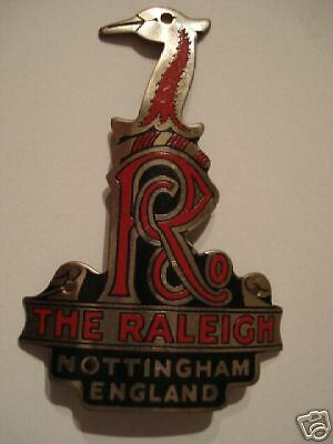 ORIGINAL, RALEIGH BICYCLES, 1960's, HERONS HEAD BADGE, UNUSED, RED & SILVER