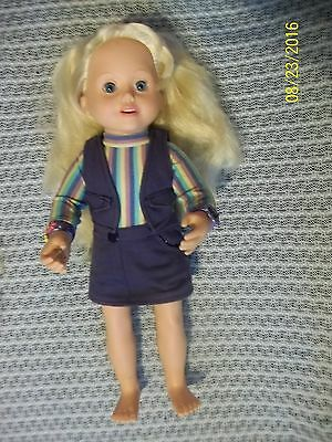 Amazing Ally Rubber Faces Moves Talking Interactive Doll Purple Tea Party Outfit