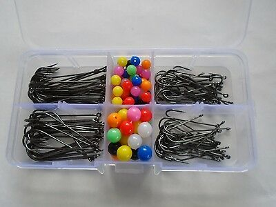 Box Of Aberdeen Hooks - 100 Assorted - 2/0, 1/0, 1 And 2