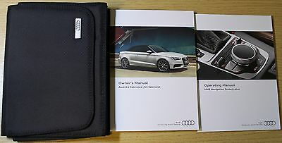 Audi A3 S3 Cabriolet Handbook Owners Manual Wallet 2014-2016 Pack 4845