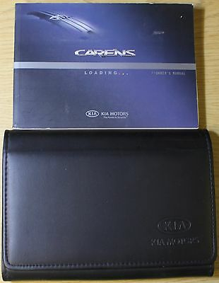 Kia Carens Owners Manual Handbook Wallet 2006-2010 Pack 4848