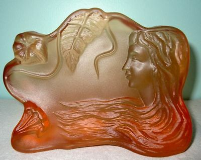 Antique Stunning Authentic Art Nouveau Frosted Glass Bookend/Paperweight