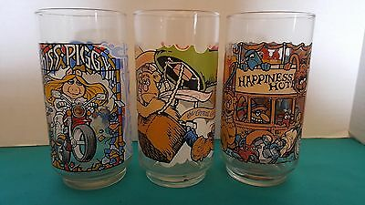 McDonald's The Great Muppet Caper Vintage Promotional Drinking Glasses Set of 3